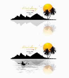 Silhouette Island Weather Widget